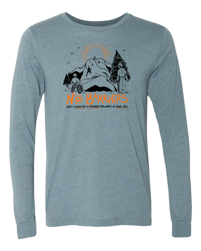No Barriers Long Sleeve - Heather Slate
