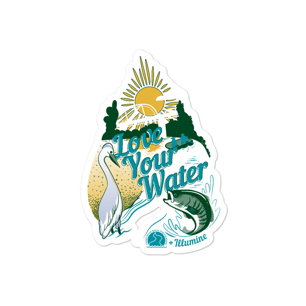 Love Your Water Sticker