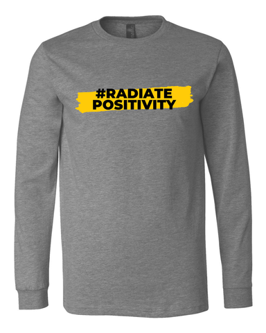 #RadiatePositivity Long Sleeve - Deep Heather