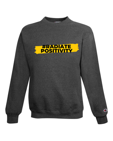 #RadiatePositivity Sweatshirt - Charcoal Heather