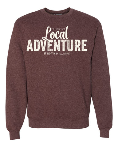 Support Local Adventure Sweatshirt - Heather Maroon