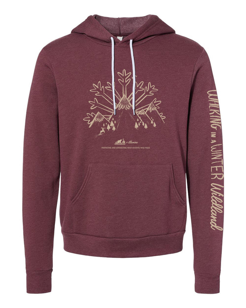 Winter Wildland Wild Virginia Hoodie - Heather Maroon