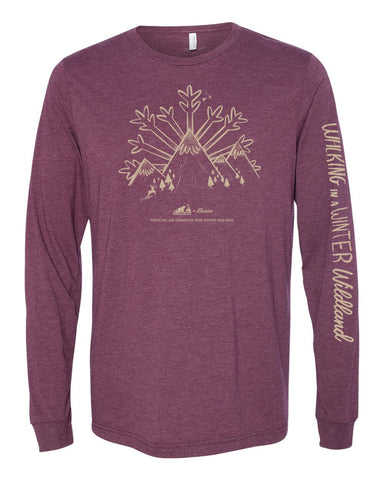 Winter Wildland Wild Virginia Long Sleeve - Heather Maroon