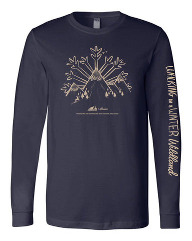 Winter Wildland Wild Virginia Long Sleeve - Navy