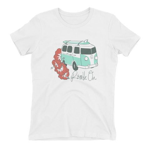 Ramble On Women's The Boyfriend Tee - White