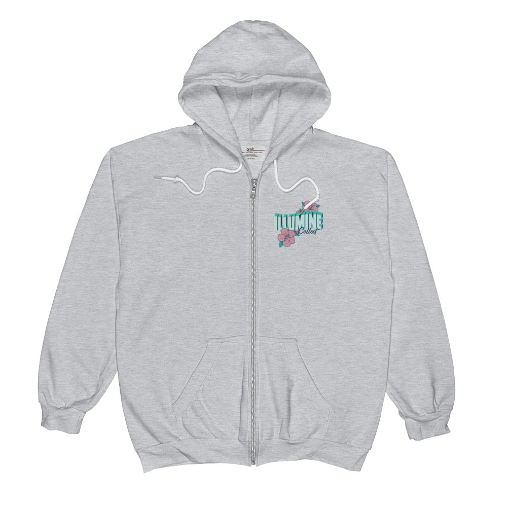 Bloom Zip Up Hoodie - Heather Grey