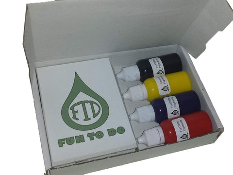 FUNTODO - SET DE PIGMENT - 4x 20ml, resines UV, FUNTODO