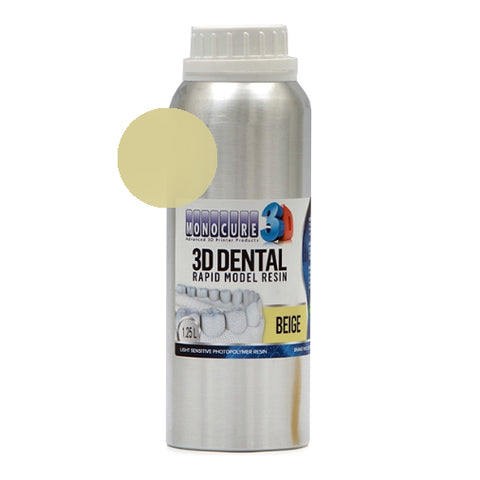 Monocure3D - Rapid Model Dental Resin - Beige - 1,25L, resines UV, Monocure3D