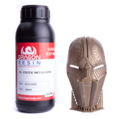 Dragon Resin - 3D Exotic Metalshine - Laiton (Brass) - 0,5 L, resines UV, Dragon Resin