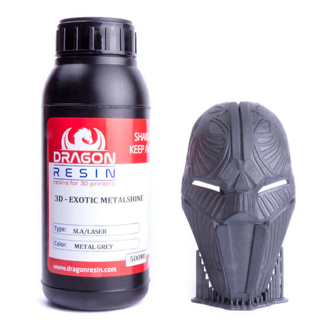 Dragon Resin - 3D Exotic Metalshine - Gris Métal (Metal Grey) - 0,5 L, resines UV, Dragon Resin