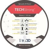 Tag3D - TECHStrong (PA6 GF) - Blanc (White) - 1.75 mm