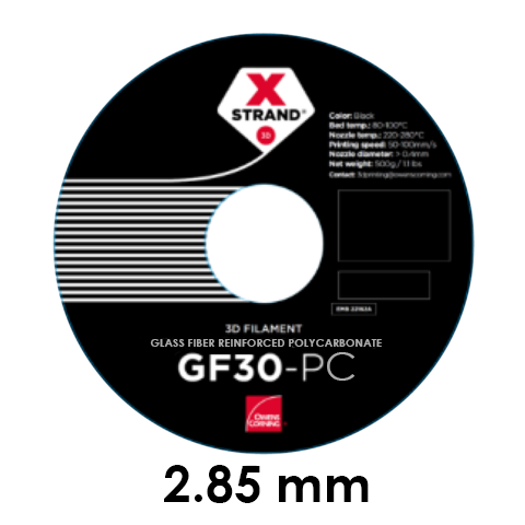 XStrand - GF30-PC - Noir (Black) - 500 g (2.85 mm)