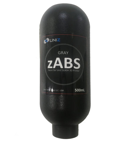 zABS GRIS ( Gray ) résine 500ml SLASH PLUS UNIZ