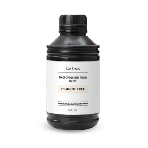 Zortrax - Resin BASIC - Free Pigment - 500 ml