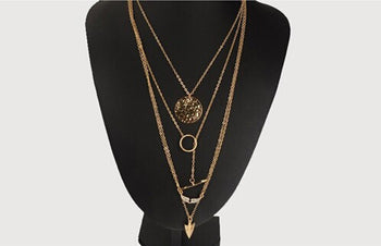 Multi-layer Arrow Design Necklace