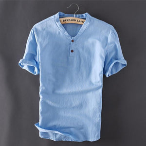 Summer Linen Shirt (3 Colors Available) - Barber Clips