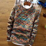 Contemporary Polychromatic Twilled Sweater (3 Colors Available) - Barber Clips