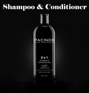 Pacinos 2N1 Shampoo & Conditioner - Barber Clips