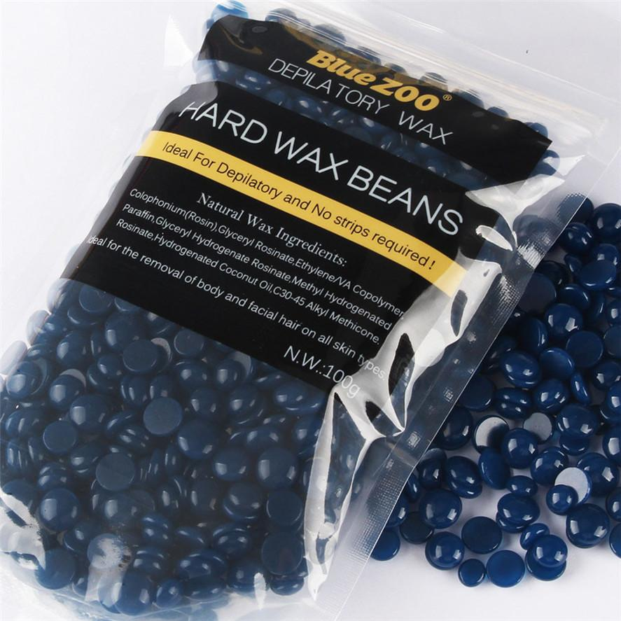 Blue Silk Hair Removal Wax - Barber Clips