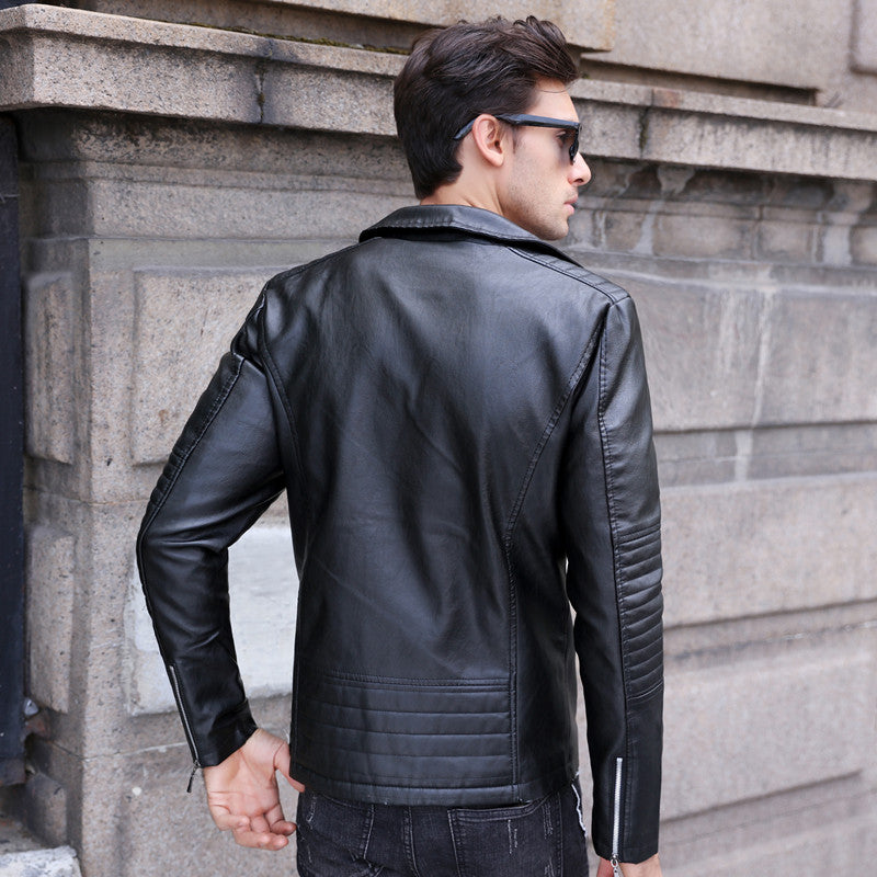 Moto Leather Jacket - Barber Clips