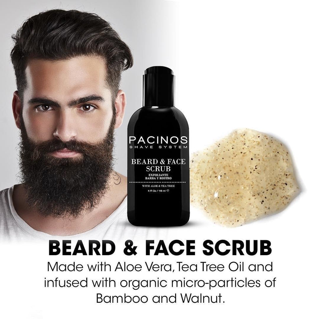 Pacinos Beard & Face Scrub - Barber Clips