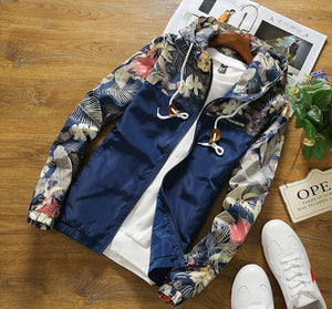 Urban Contrast Floral Windbreaker (4 Colors Available) - Barber Clips