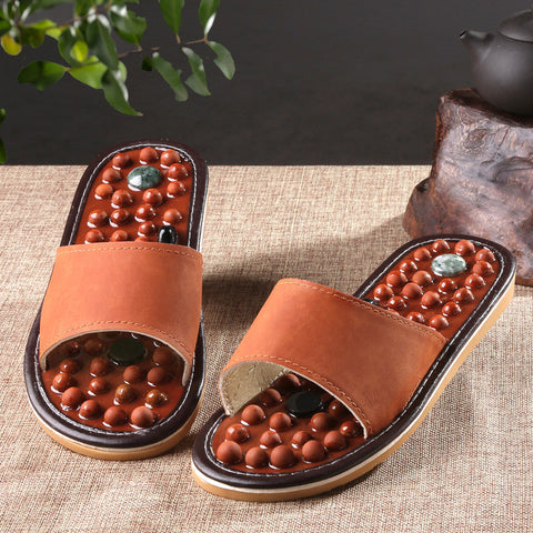 Wooden Base Acupressure Slippers