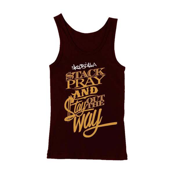Skoobzilla - Stack Pray Ladies' Tank Top