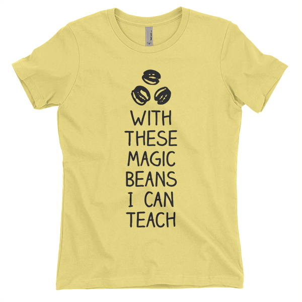 Yellow with these beans I can teach t-shirt