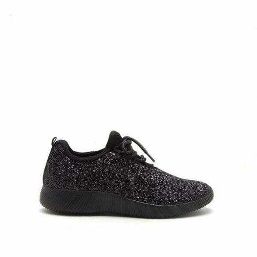 Black glitter shoes  side/front