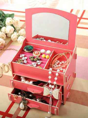 Mini Cosmetic Storage with Mirror