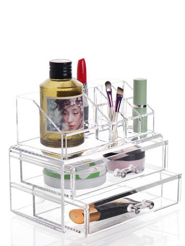 Classic Double Layer Cosmetic Organizer