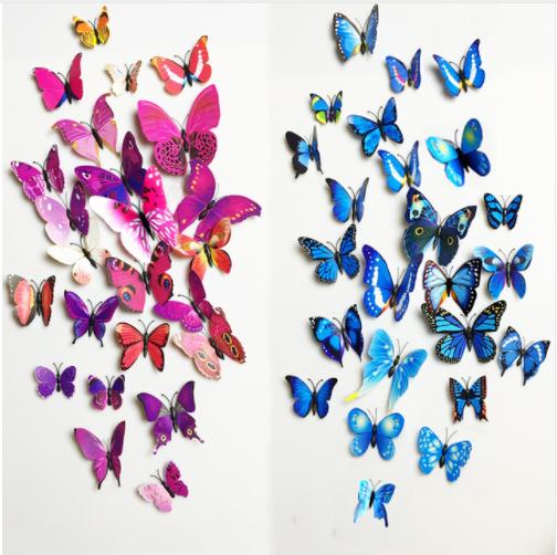 12 Pcs 3D Butterfly Wall Decor