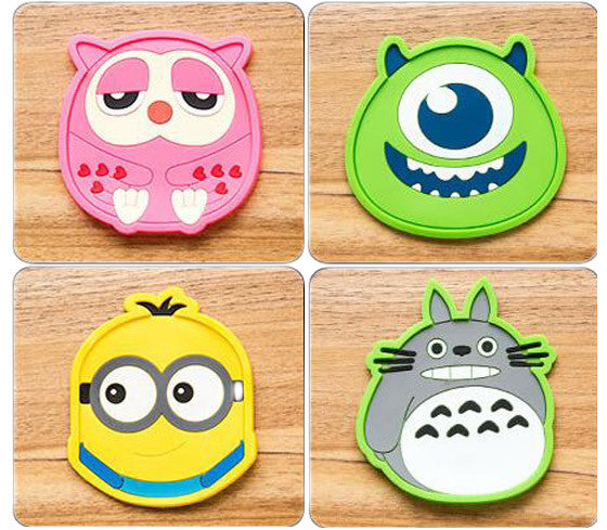 4 Pcs Cartoon Coasters