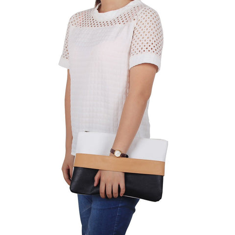 Casual Patchwork Clutch