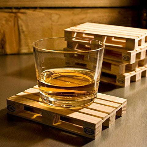 4 Pcs Mini Wooden Pallet Coasters