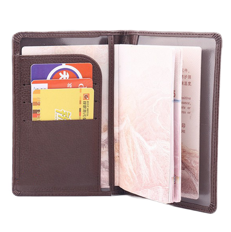 Leather Passport & Cards Holder