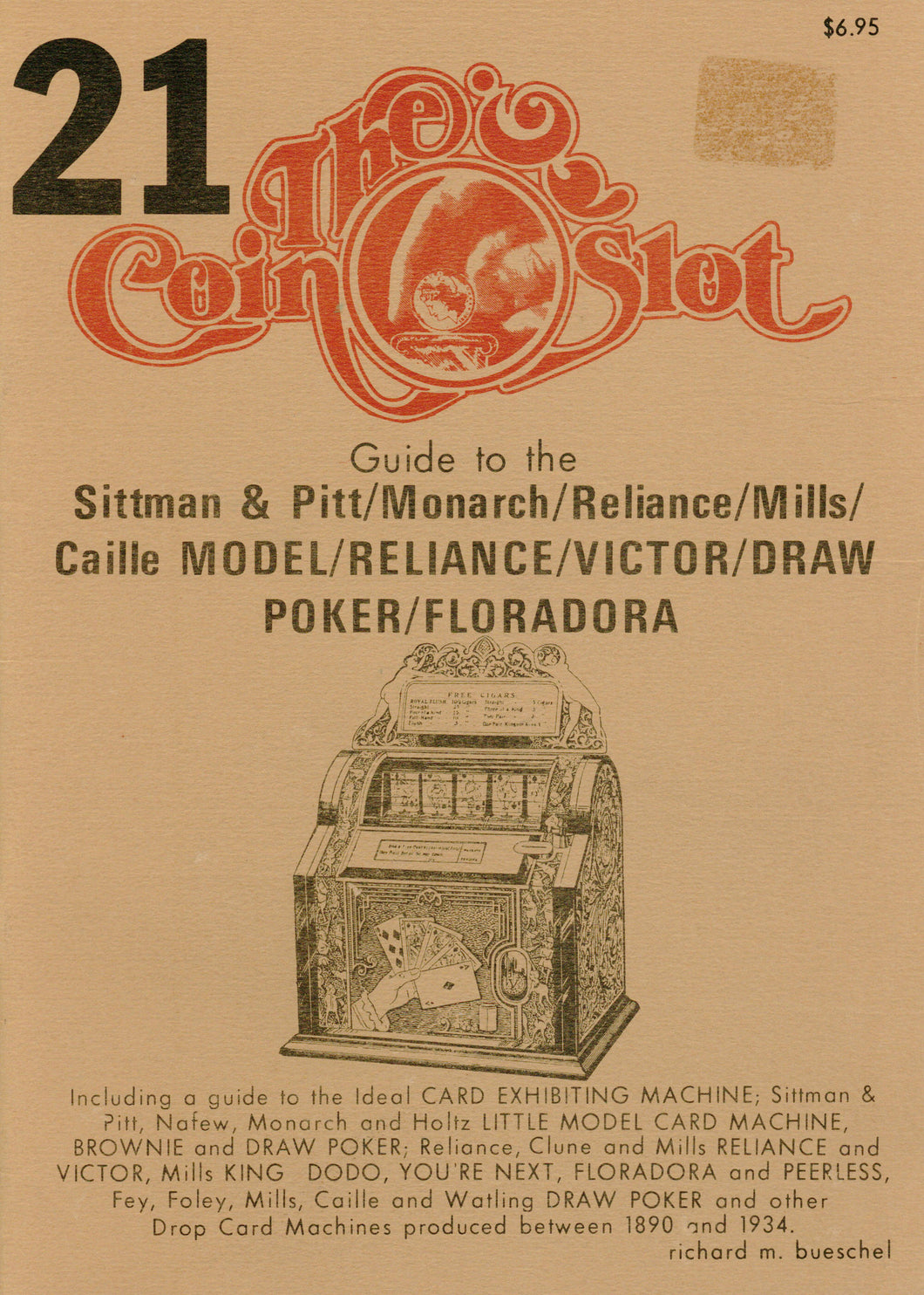 Coin Slot #21. Guide to the Sittman & Pitt/Monarch/Reliance/Mills/Caille Model/Reliance/Victor/Draw Poker/Floradora