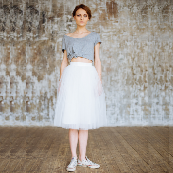 White Giselle Skirt (IN STOCK)