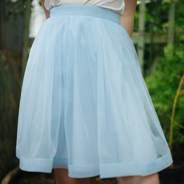 OVER THE KNEE Sky Blue Aurora Skirt