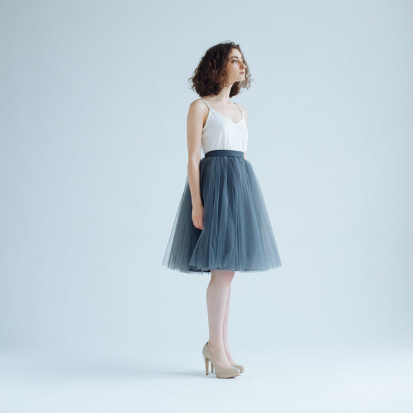OVER THE KNEE Gray Garden Odile Skirt