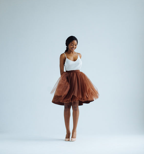 OVER THE KNEE Cinnamon Odile Skirt