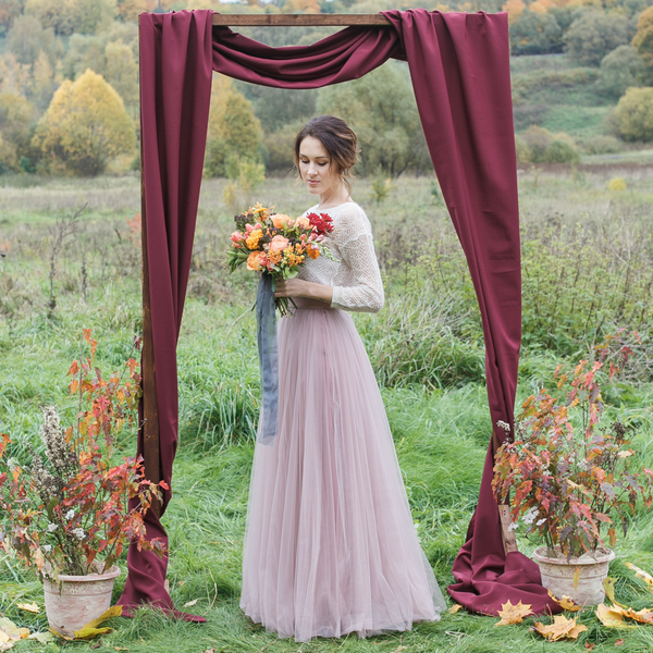 Dusty Rose Anna Karenina Skirt