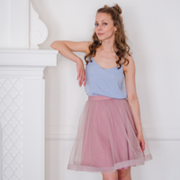 Rose Taupe Aurora Skirt (IN STOCK)