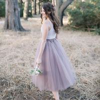 Rose Taupe Odile Skirt