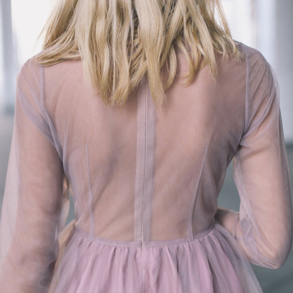 Rose Taupe Tulle Dress
