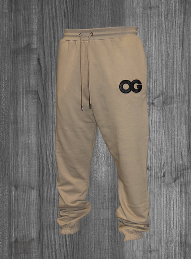OG SWEATPANTS.  BEIGE / BLACK