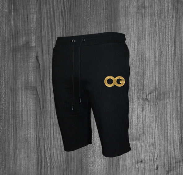 OG SHORTS.  BLACK / GOLD