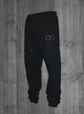 OG SWEATPANTS.  BLACK / BLACK