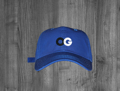 OG DAD HAT.  ROYAL BLUE / BLACK, GREY, WHITE